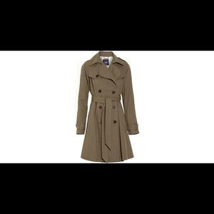 NWT Gryphon New York Pleat Back Trench Coat